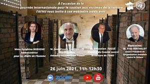 Webinaire Journée internationale pour le soutien aux victimes de la torture